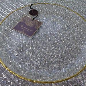 Artistic Accents Glass Bubble Dinner Plates set 4